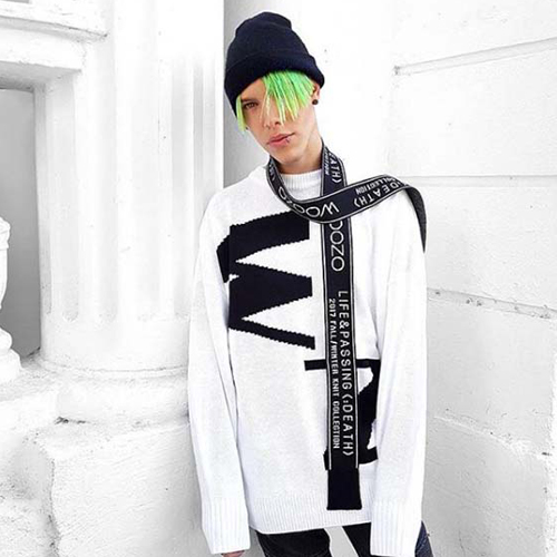 Woozo Abbreviation Full Knit White/Black ( Free )